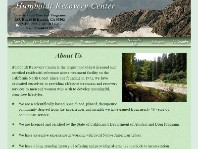 Humboldt Recovery Center Inc Eureka
