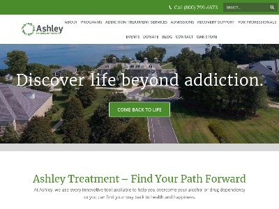 Ashley Addiction Treatment OP/IOP Elkton