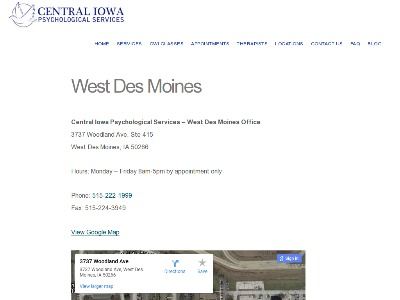 Central Iowa Psychological Services West Des Moines
