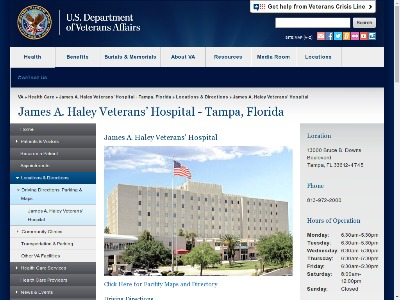 James A Haley Veterans Hospital Tampa