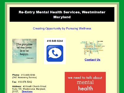 ReEntry Mental Health Services Westminster
