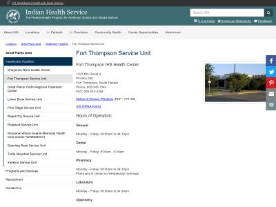 Fort Thompson Service Unit Fort Thompson