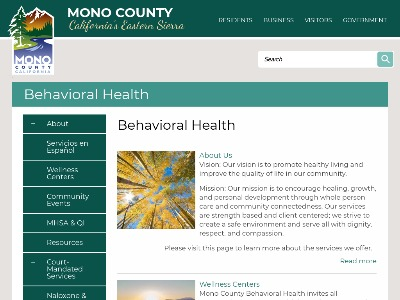 Mono County Behavioral Health Mammoth Lakes