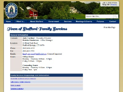 Stafford Family Services Stafford Springs