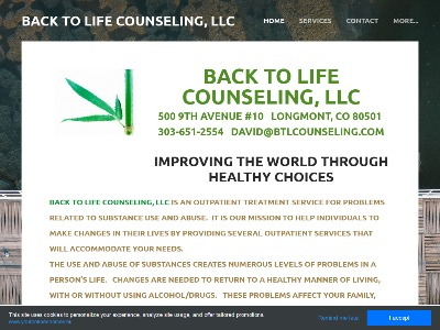 Back To Life Counseling LLC Longmont