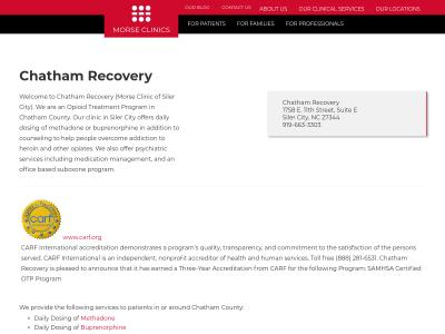 Chatham Recovery PLLC Siler City