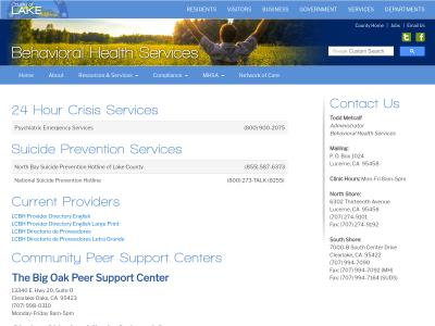 Lake County Behavioral Health Lucerne