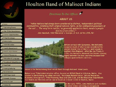 Houlton Band Of Maliseet Indians Houlton