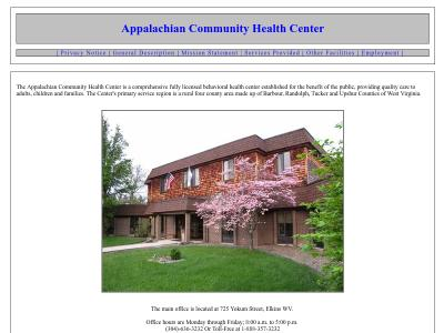 Appalachian Community Hlth Ctr Inc Belington